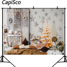 Christmas Tree Photography Backdrop Xmas Elk Star Indoor Background Studio Props