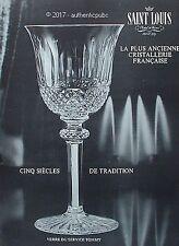 PUBLICITE SAINT LOUIS CRISTALLERIE VERRE DU SERVICE TOMMY DE 1965 FRENCH AD PUB