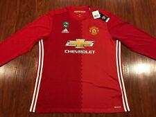 2016-17 Adidas Manchester United Men's Home Long Sleeve Soccer Jersey XL Man U