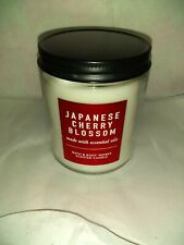 New Bath & Body Works Japanese Cherry Blossom Scented Single Wick Candle (7oz)