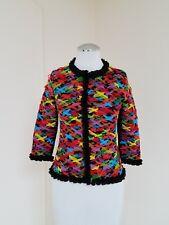 Michael Simon Black Jacket w/ Colored woven Mesh ribbon Sz. P ,Small