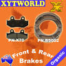 FRONT REAR Brake Pads Shoes for HONDA XR 250 RE/RF 1984 1985