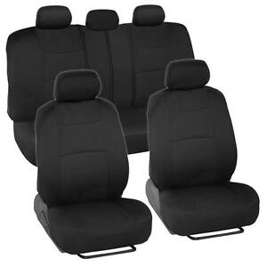 Car Seat Covers for Subaru Outback & Limited 2 Tone Color Black w/ Split Bench