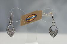 FOSSIL Damen Ohrhänger Ohrringe JF00285 Anhäger Herz  Besatz weiß Zirkonia NEU