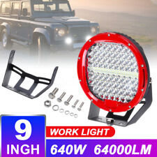 9Inch 640W Round Work Light LED Spot Flood Offroad Driving Headlight Marine