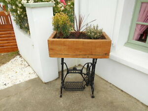 rustic trough planter