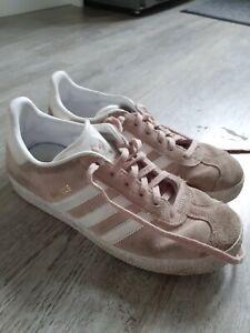 Adidas Gazelle Pink Girls Size 4 (Junior) UK