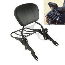New Detachable Backrest Sissy bar Luggage Rack For Harley Touring Model FL 09-18