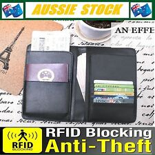 RFID Anti Scan Blocking PU Leather Travel Long Business Passport Ticket Wallet
