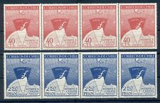 CHILE * 1947 * compl.set 2 stamps in Strip of 4 *MNH** Antarctica - Mi. No 355-6