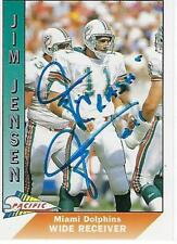 JIM JENSEN SIGNED 1991 PACIFIC #281 - MIAMI DOLPHINS