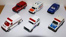 Majorette lot (x6) Police Pompier Ambulance
