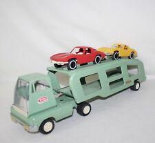 "VIntage 1964 ""MINI TONKA CAR CARRIER W/ RED & YELLOW SPLIT TOP CORVETTES"" NO 96"