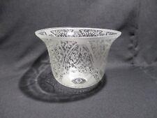 ANCIENNE TULIPE ABAT JOUR GLOBE LAMPE A PETROLE  EN VERRE SOUFFLE DECORE LIGHT