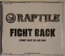 Raptile - Fight Back Advance PR CD Unique PS Hip Hop