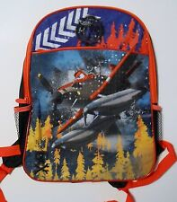 Backpack DISNEY PLANES Orange Black Boys Large School Gym Book Tote Bag