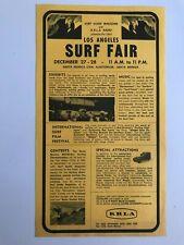 Rare - 1963 Surf Fair - Los Angeles - Handbill/poster - Good condition