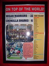 Wigan Warriors 22 Cronulla Sharks 6 - 2017 World Club Challenge - framed print