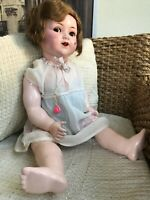 """GORGEOUS ANTIQUE BIG AND BEAUTIFUL DOLL """" KONIG & WERNICKE """"  MADE IN GERMANY"""