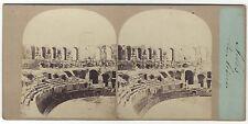 Arles Les Arènes France Stéréo photo Furne & Tournier Vintage Albumine ca 1860
