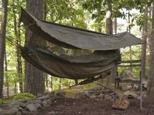 Army Jungle Hammock Insect Mesh Netting Coated Roof Olive Drab One Person 2361
