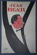 "CHARLES KIFFER  (1902/1992)  Affiche  Litho  "" JEAN RIGAUX """