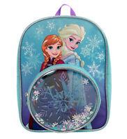 Disney Frozen Glitter Snowflakes Pocket Childrens Backpack School Bag Rucksack