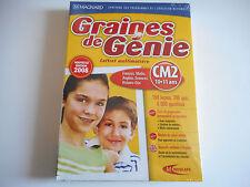 JEU DVD-ROM PC NEUF - GRAINES DE GENIE CM2 / 10-11 ANS