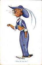 Louis Wain. How do you do? by E. J. Hey & Co, London. Series 424.