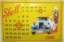 Shell 1929 embossed metal everlasting calendar   300mm x 200mm (hi)