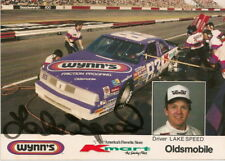 RARE! Lake Speed signed WYNNS/KMART '87 OLDS #83 photo