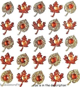 FALL LEAVES REPEATS Jolee's Boutique 3-D Glitter Stickers Autumn Leaf