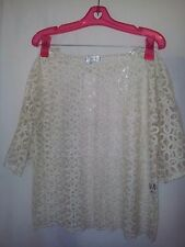BNWT Lovely girl cream lace top size S but suit 12