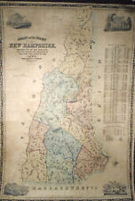 J.R. Dodge TOWNSHIP AND RAILROAD MAP OF NEW HAMPSHIRE 1854 Very Good 34x24