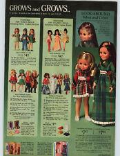 1972 PAPER AD Doll Ideal Velvet Crissy Mattel Dottie Blythe Sweet April Baby
