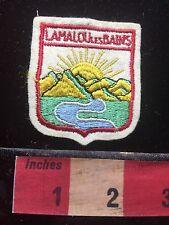 Vtg LAMALU LES BAINS FRANCE Jacket Patch French Travel Souvenir 71Q6