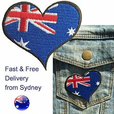 Australia flag heart Iron on patch Australian Oz Oi oi Aussie iron-on patches