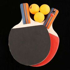 Table Tennis Ping Pong Paddles Red&Black for Beginner Set 2 Rackets and 3 Balls