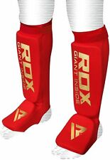 Auth RDX Shin Instep Pads MMA Foot Guards Muay Thai Kick Boxing UFC Protector AU XL