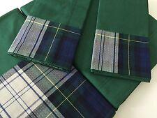 De Lujo Italiano 100% Egipcio Percal Cuna Conjunto de Cama King Hojas Verde Azul Comprobado