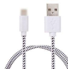2Stk Ladekabel Datenkabel Kabel iPhone5/6 Handy Nylon Kordel weiß