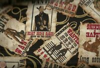Wild West cowboy Most Wanted posters Kanvas  fabric