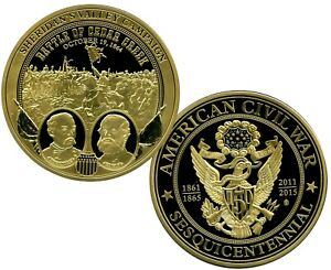 SHERIDAN'S VALLEY CAMPAIGN COLOSSAL COMMEMORATIVE COIN PROOF VALUE $139.95