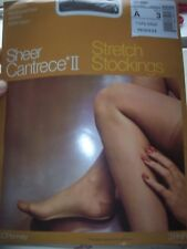 NIP Vintage JCPenney Cantrece II 3 Pair Lot Seamless Nylon Garter Stockings A