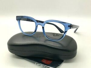 NEW RAY BAN EYEGLASSES RB 4324V 5941 TRANSPARENT BLUE 50-21-150MM /CASE