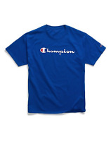 Champion Short Sleeve Royal Blue Classic Graphic Jersey Logo T-Shirt Adult XXL