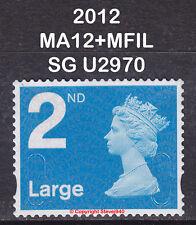 2012 Machin 2nd Class Large Blue NVI SG U3032 MA12+MFIL Very Fine Used VFU Stamp