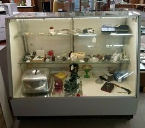Store Display Slant Glass Front Showcase Lighted and Lockable