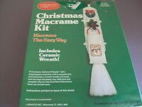 VINTAGE Brantex Christmas Macrame Kit Towel Holder New In Box