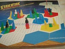 STAKATAK - ULTIMATE STRATEGY GAME - STAK ATAK - 1992 - RARE GAME - 100% - FUN...